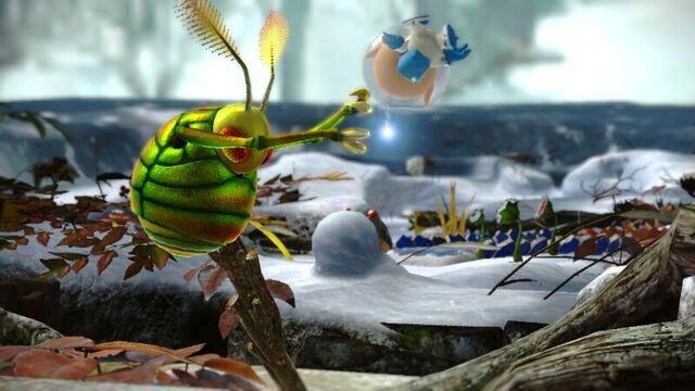 File:SwoopingSnitchbugThrowingAlph-Pikmin3.jpg