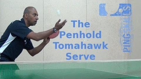Video penhold tomahawk serve in table tennis ping pong for Table tennis serving rules