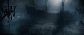British ship Silent Mary bowsprit