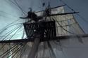 Mast falling