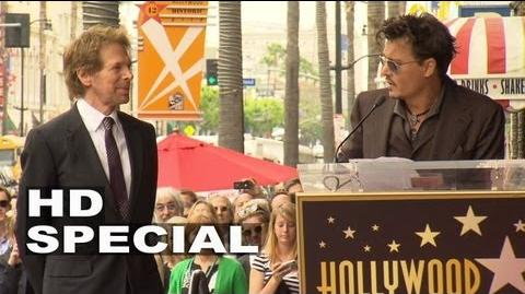 Jerry Bruckheimer Hollywood Walk of Fame Star Ceremony Johnny Depp Speech
