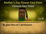 MothersDayFlowerFaceTat