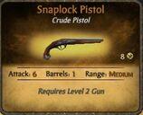 Snaplock Pistol