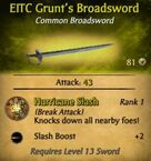 EITC Grunt's Broadsword