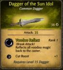 Dagger of the Sun Idol