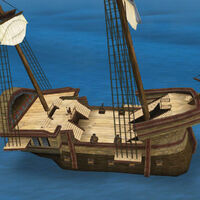 Light galleon deck