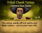 Tribal Cheek Tattoo clearer