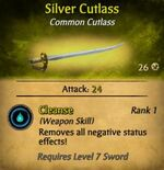 Silver Cutlass