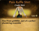 F Ruffle Shirt variations