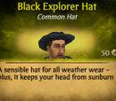Black Explorer Hat