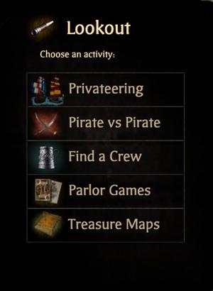 Lookout menu