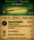 Buccaneers Bayonet