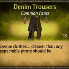 Dark Brown Denim Trousers