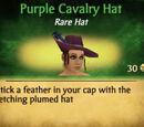 Purple Cavalry Hat