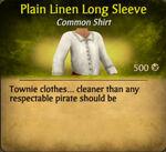Plain Linen Long Sleeve