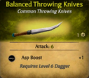 Balanced Throwing Knives - clearer
