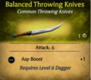 Balanced Throwing Knives