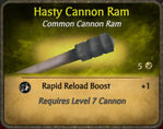 Hasty Cannon Ram 2010-12-24