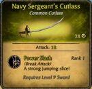 Navy-Sergeant's cutlass