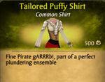 F Tailored Puffy Shirt