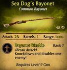 Sea Dog's Bayonet