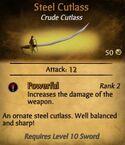 Steel Cutlass