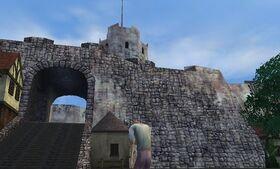 Kingshead Armory Enterance to dangerous area