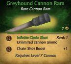 Greyhound Cannon ram