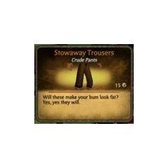 Dark Brown Stowaway Trousers