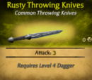 Rusty Throwing Knives