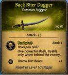 Back Biter Dagger