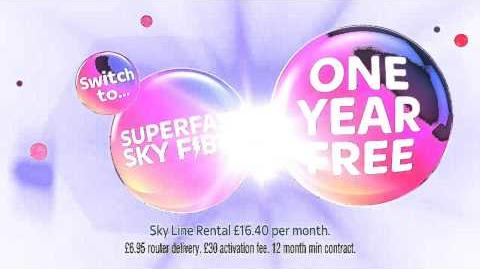 Sky Fibre advert with Disgust from Inside Out