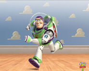 Buzz Lightyear running