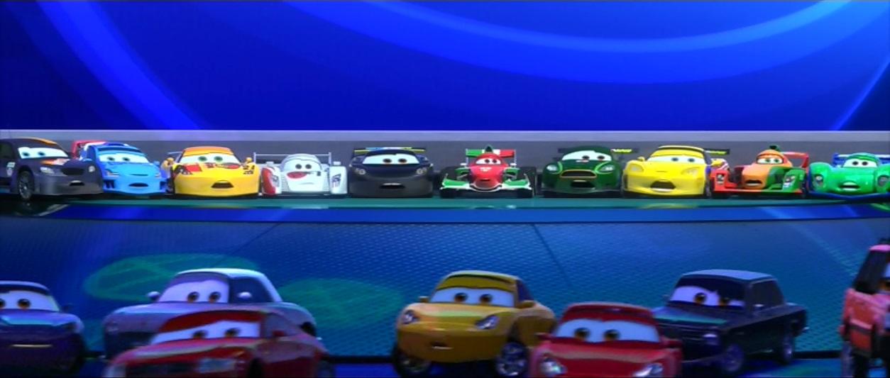 Image World Grand Prix Racers Startled By Mater Jpg