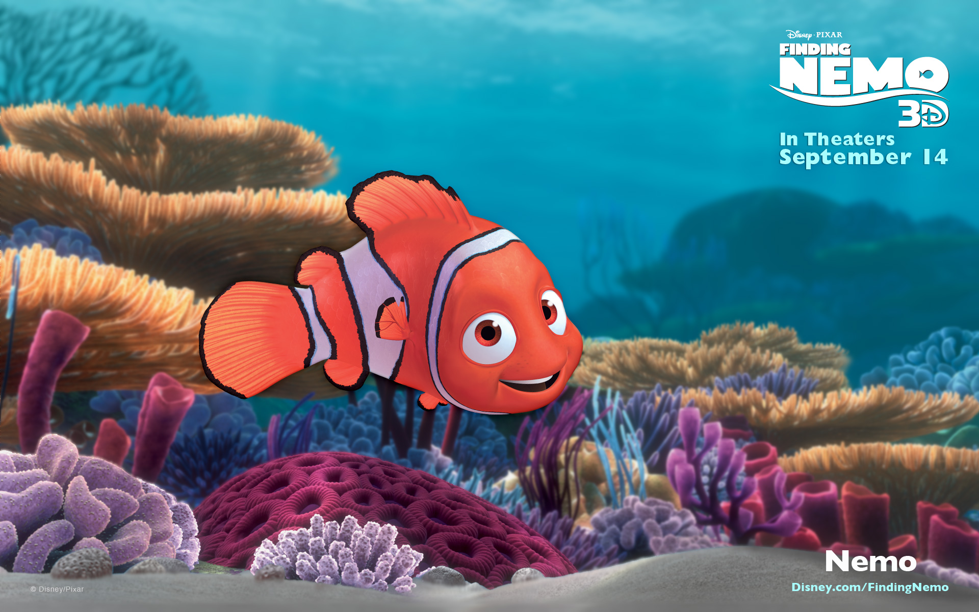 It is a graphic of Crafty Free Finding Nemo