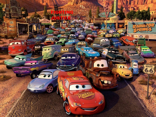 File:Cars Toons Fighting Justice Wallpaper.png