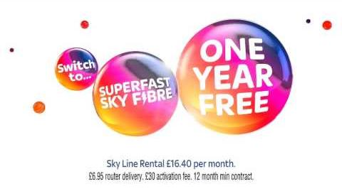 Sky Fibre advert with Anger from Inside Out