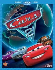 Cars 2 blu-ray disc