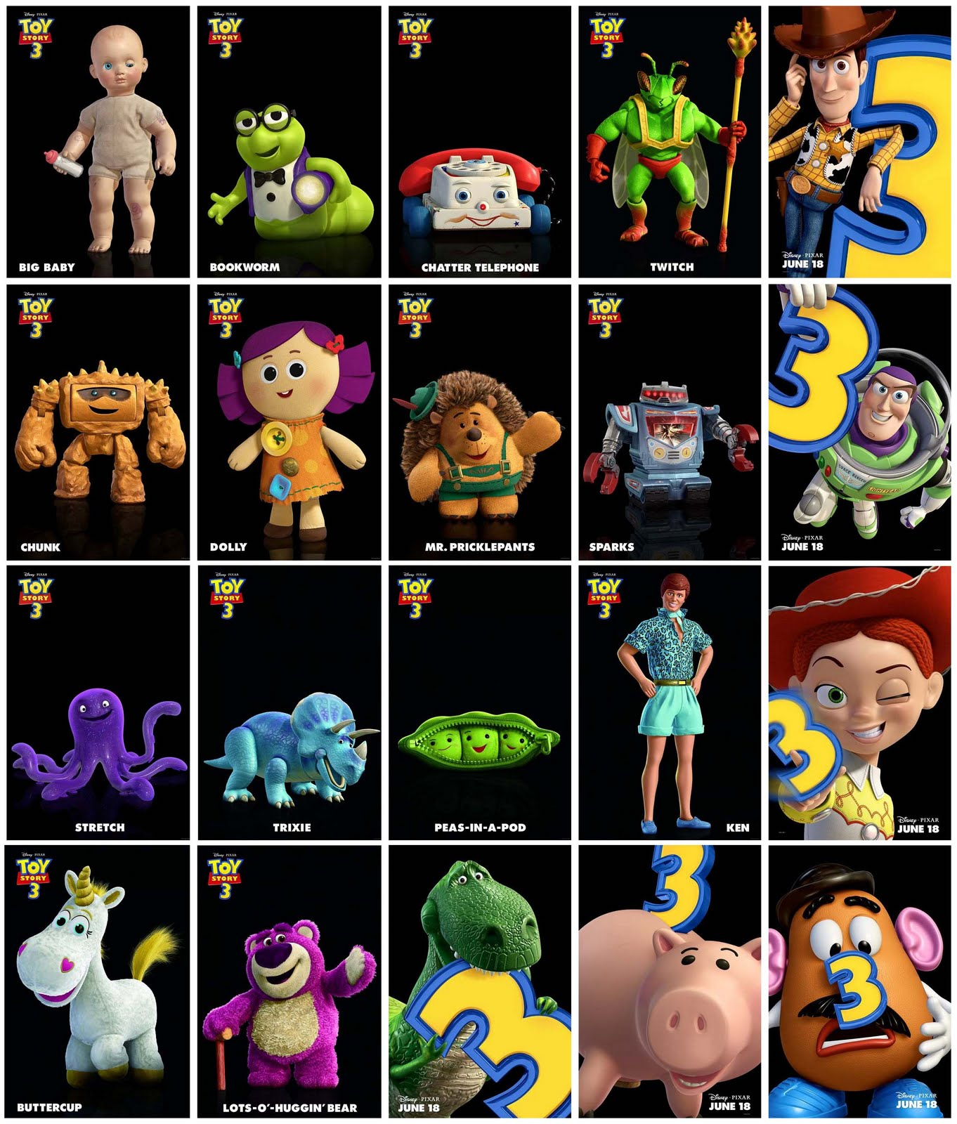 Image - Toy Story Three Character.jpg | Pixar Wiki | FANDOM Powered By Wikia