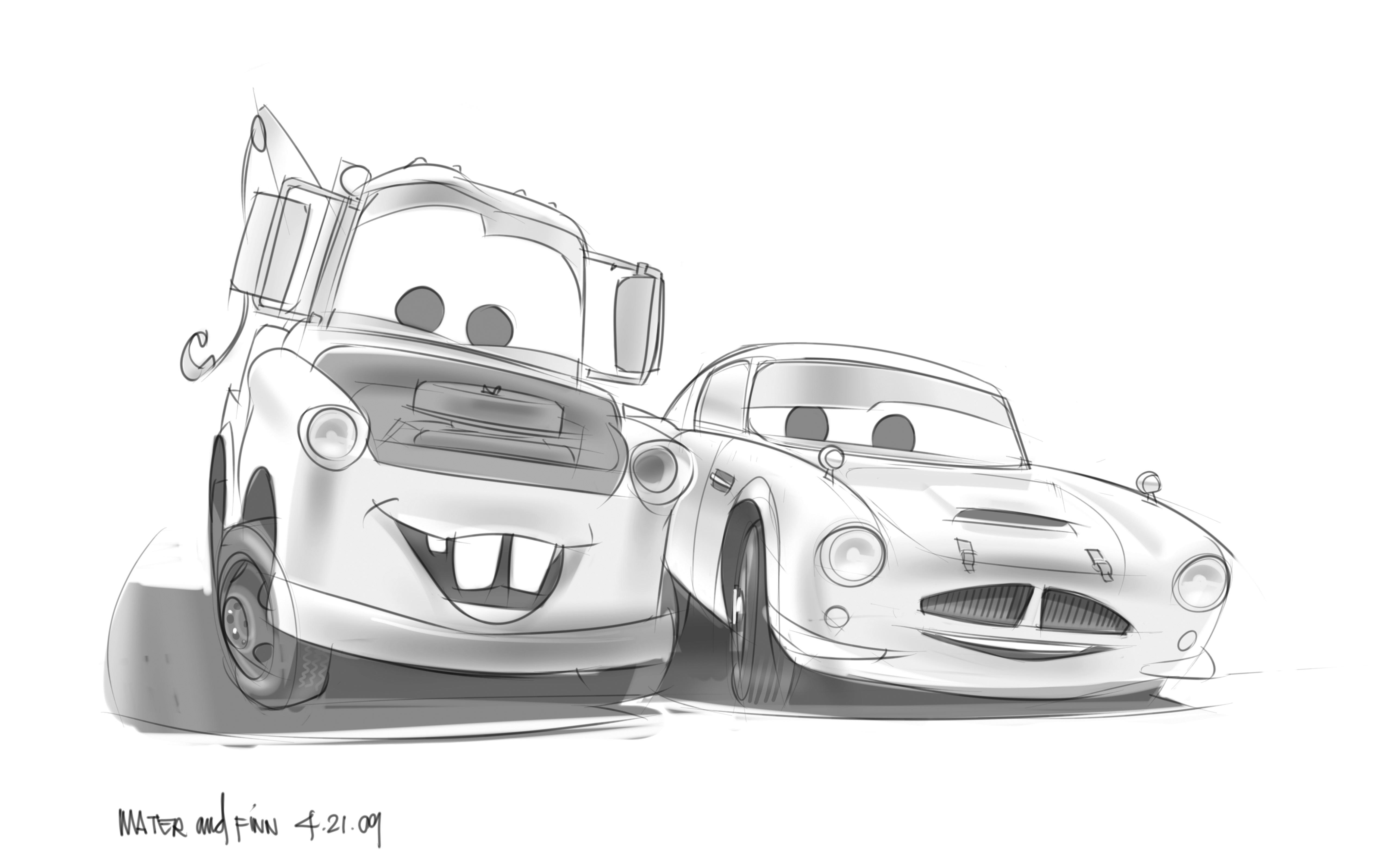 Ausmalbilder Cars Finn Mcmissile : Mcqueen Cars Coloring Pages Bugatti Coloring Page For Kids