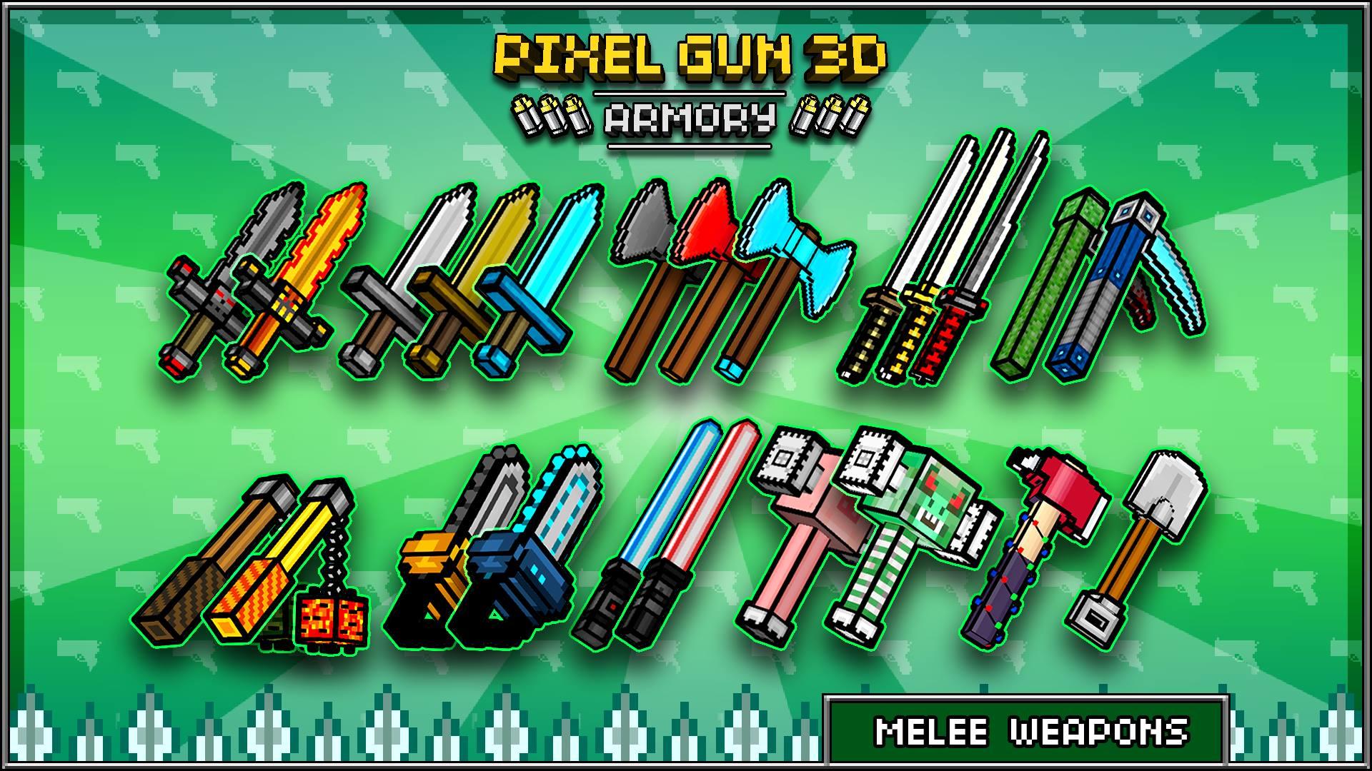 Скачать Pixel Gun 3D (Pocket Edition) [Мод: много денег и