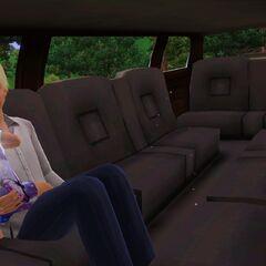 Osobistość z małym dzieckiem w limuzynie w The Sims 3
