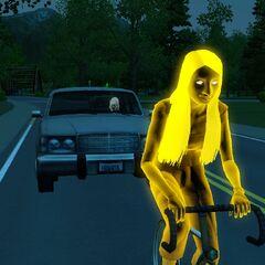 Duchy mogą jeździć samochodem lub rowerem jak normalni Simowie