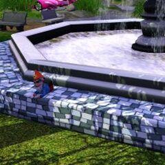 Gnom na fontannie