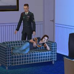 Sim ogląda telewizję