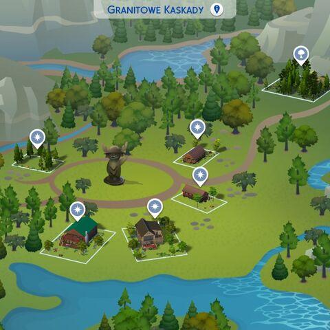 Mapa Granitowych Kaskad