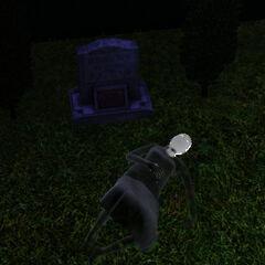 Drzemka Pelagii przy jej nagrobku.