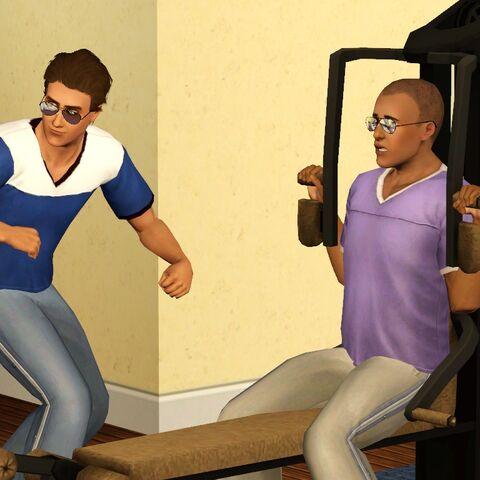 Jayden i David na siłowni