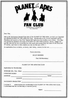 Fan club form
