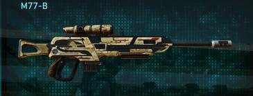 Sandy scrub sniper rifle m77-b